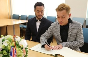 Mr Yein Kai Yee and Mr Sutpreedee Chinithigun were in the first same sex marriage in Vietnam