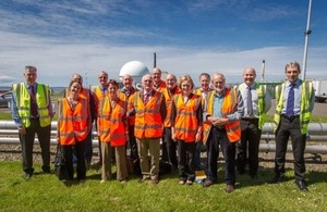 Members of the committee and staff at the Dounreay site