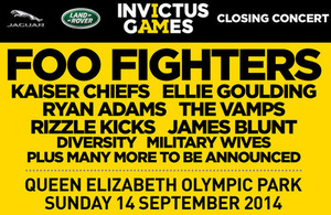 Invictus Games closing ceremony line up