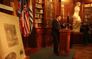 Ambassador Ben Lyster-Binns at exhibition First World War