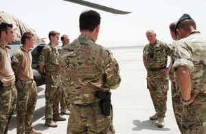 The Duke of York talks with troops during visit to Afghanistan [Picture: Corporal Chantelle Cooke RAF, Crown copyright]