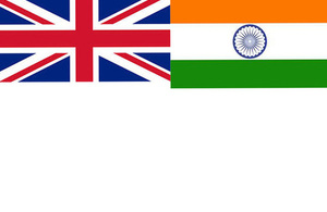 UK and India Flags