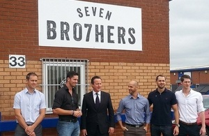 David Cameron visited the Seven Bro7hers brewery.