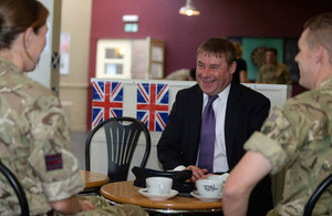 Mark Francois visits personnel from 39 Engineer Regiment in Kinloss, Scotland [Picture: Mark Owens, Crown copyright]