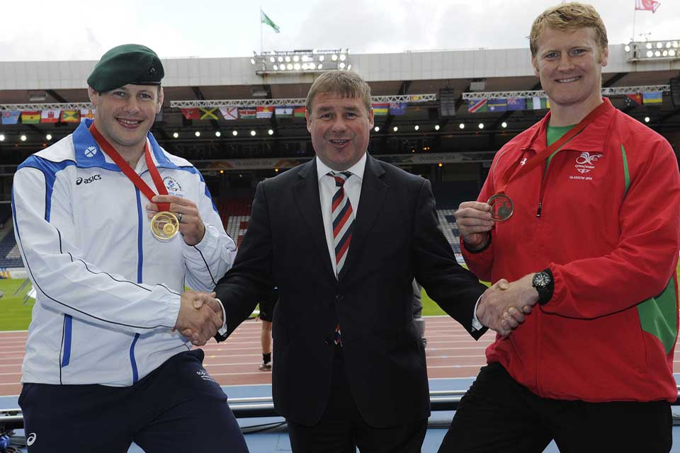 Minister for the Armed Forces Mark Francois met with judo gold and bronze medallists Chris Sherrington and Mark Shaw