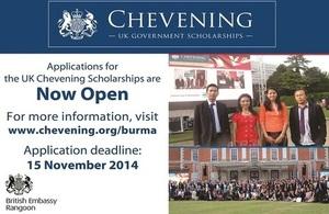 Chevening Scholarship Application (2015-16)