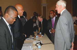 Governor Beckingham, TCI Minister of Border Control and Labour and President Martelly