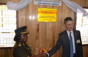 Mr. Roger Coventry and Ms. Matilda Baffour-Awuah at the opening of the centre for Paralegal Services
