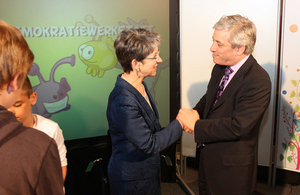 UK and Austrian Speakers of their respective Parliaments, Rt Hon John Bercow and Mrs Barbara Prammer