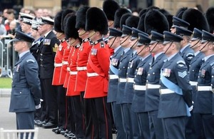 Armed forces personnel on parade at George Square in Glasgow [Picture: Mark Owens, Crown copyright]