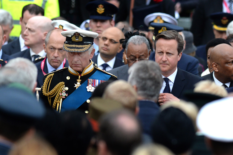 The Duke of Rothesay and the Prime Minister at the commemorative event in Glasgow