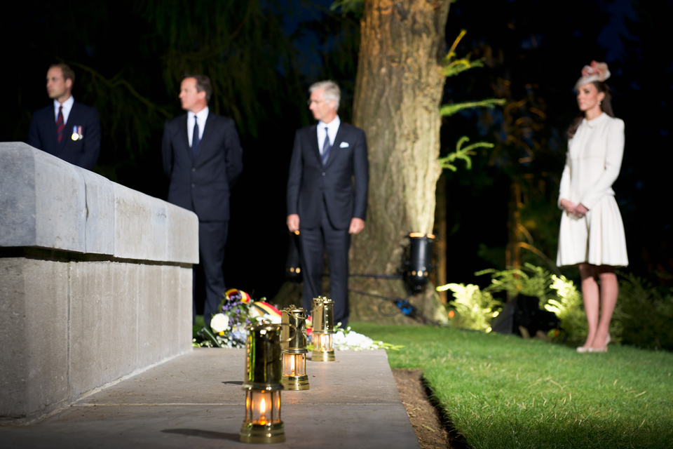 The Duke and Duchess of Cambridge and the Prime Minister are among those gathered at St Symphorien cemetery.