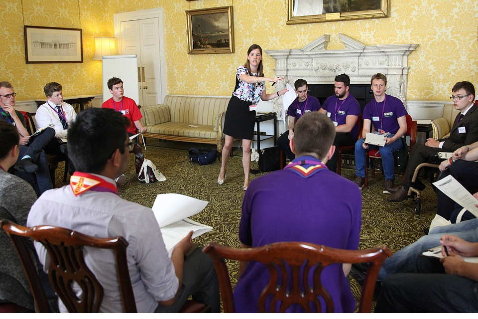 Young Social Action Ambassadors at the Downing Street event.