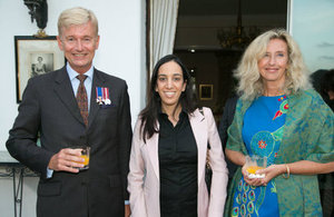 British Ambassador to Morocco, Clive Alderton, his wife, and Moroccan Minister Delegate to the Minister of Foreign Affairs and Cooperation, Mbarka Bouaida