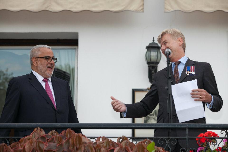 British Ambassador to Morocco, Clive Alderton, and Morocco's Head of Government, Abdelilah Benkirane