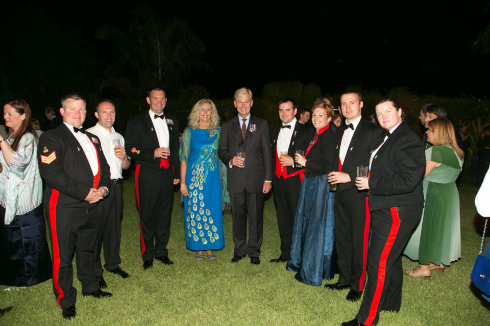 British Ambassador to Morocco, Clive Alderton, his wife, and The Corps of Army Music