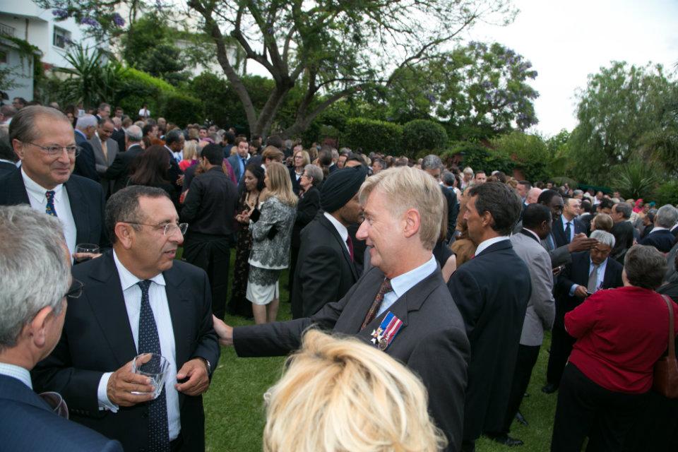 British Ambassador to Morocco, Clive Alderton, and Chargé de Mission at the Royal Cabinet, Youssef Amrani