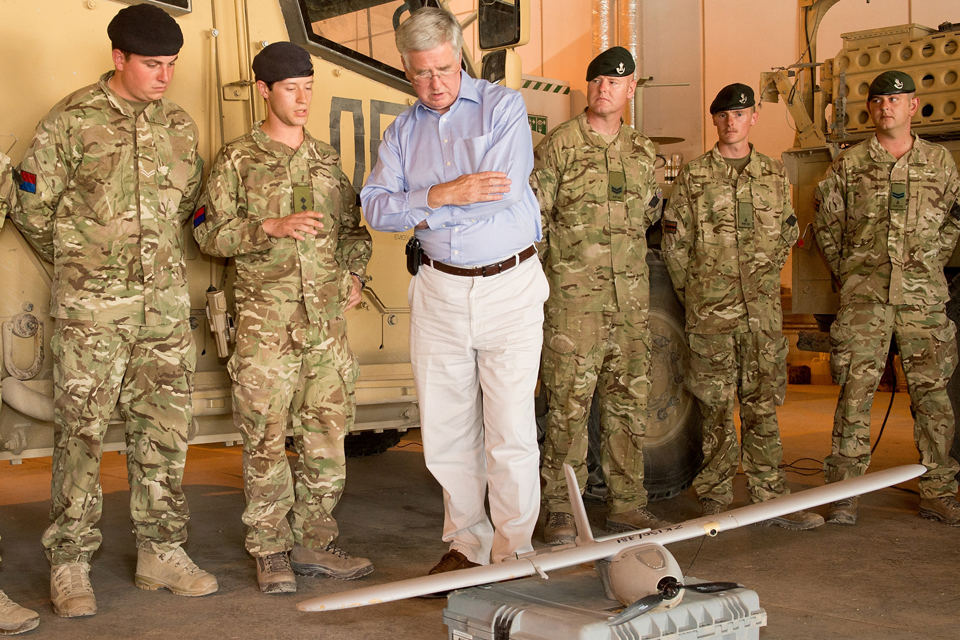 Defence Secretary Michael Fallon in Afghanistan