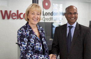 Andrea Leadsom visiting London Mutual Credit Union
