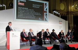 L to R: Rt Hon Brian Wilson, Rt Hon Vince Cable, BIS Secretary of State, Andy Brown (Shell), Professor Paul de Leeuw (International Institute for Oil & Gas, Robert Gordon University), Ernest Nwapa (Nigerian Local Development Board), Sue Whitbread (UKTI H