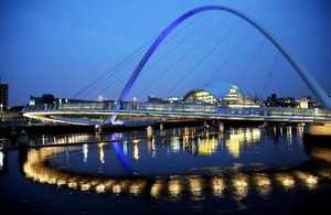 Millennium Bridge in South Tyneside