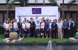 Ambassador Philip Malone attends reception for Erasmus Mundus scholars