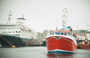 Shetland boats in harbour