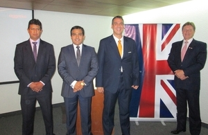 Aggreko's representatives joined by British Honorary Consul in Arequipa, Francis Rainsford (right).