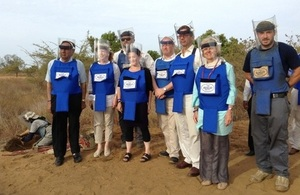 UK Parliamentarians at a demining site in Sri Lanka