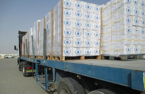WFP food supplements arrive in Erbil after being transported by DFID. Picture: WFP