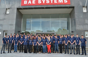 BAE Systems apprentices at their Glasgow site [Picture: BAE Systems]