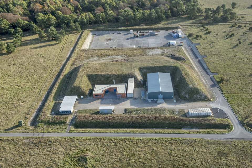 An aerial view of the HME Facility