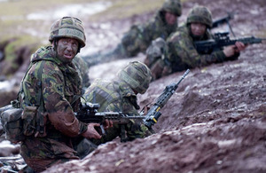 Leading Aircraftman Lee Crooks at Sennybridge Training Area in Wales in preparation for operations in Afghanistan