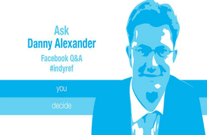 Danny Alexander takes part on #indyref Q&A