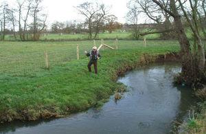 Angler fishing on the River Sence