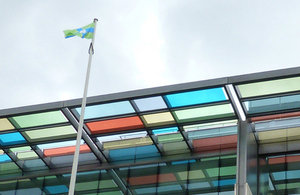 North Riding flag above the new DCLG headquarters