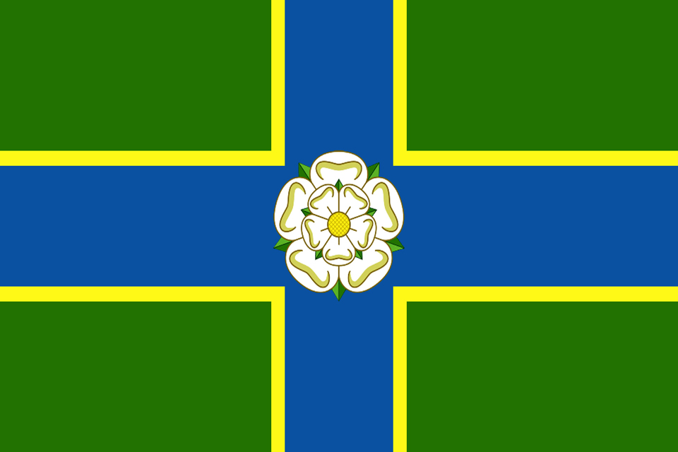 North Riding flag, picure courtesy Wiki commons