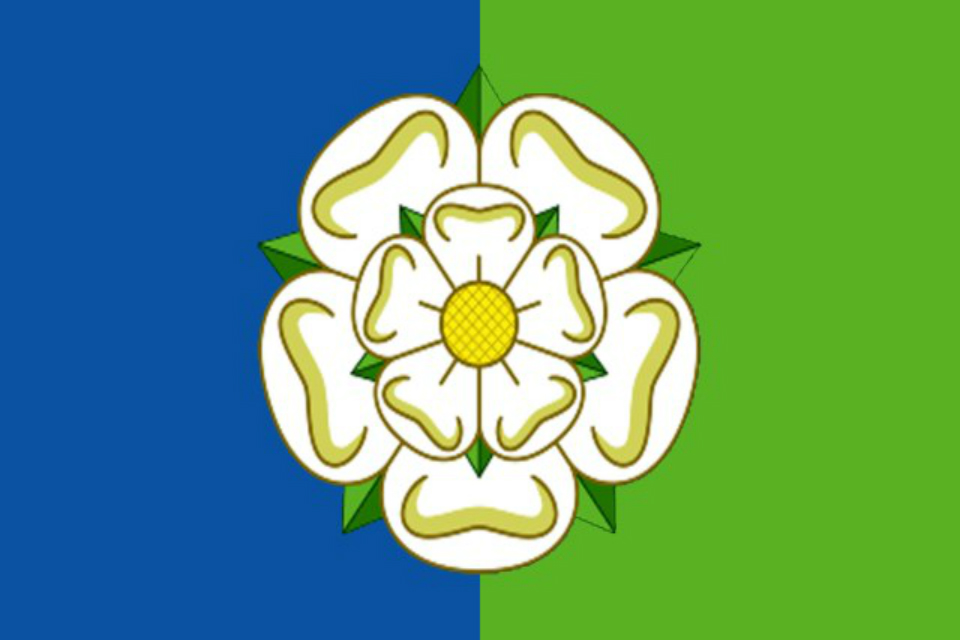 East Riding flag, picure courtesy Wiki commons