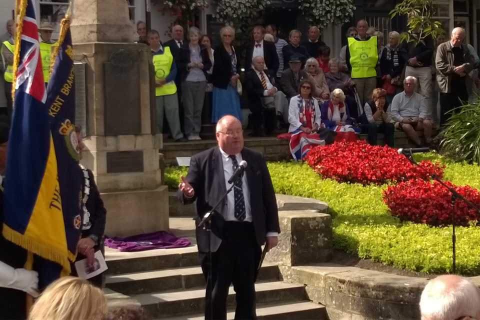 Secretary of State speaking at launch in East Grinstead