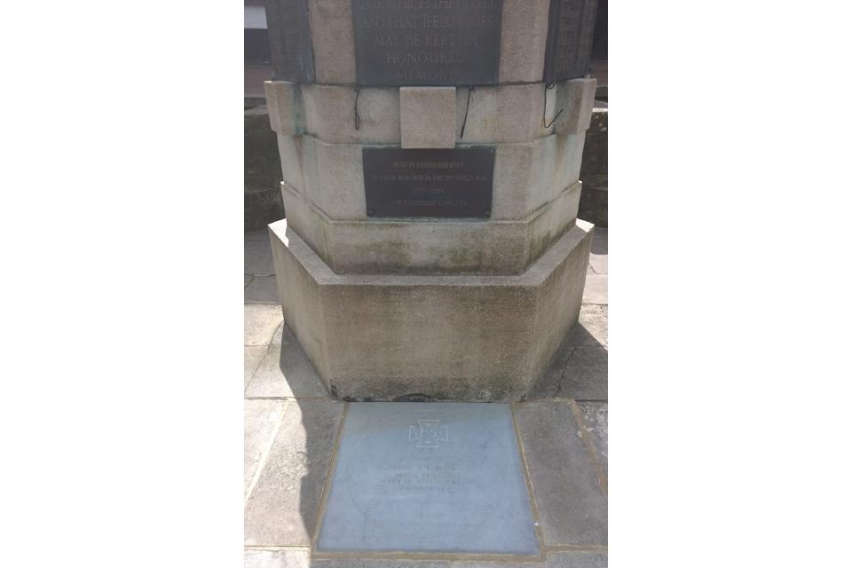 Commemorative stone to Private Sidney Godley VC