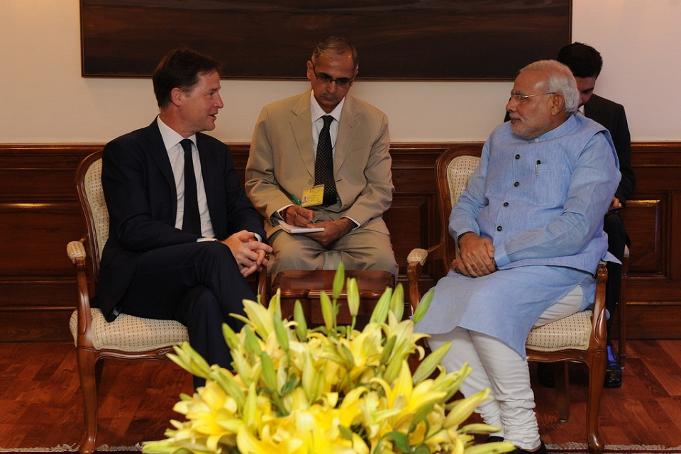 Nick Clegg meets Indian PM Modi