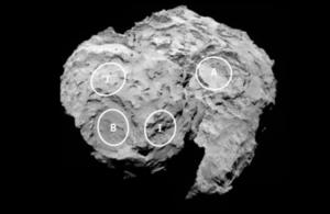 Philae candidate landing sites.