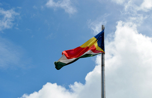 The Seychelles flag