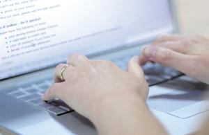 Customer using a laptop