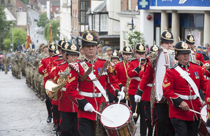 Armed Forces Day parade in Guildford (library image) [Picture: Crown copyright]