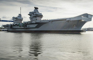 HMS Queen Elizabeth in the Firth of Forth [Picture: Aircraft Carrier Alliance]