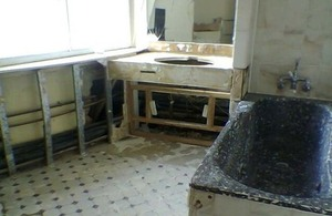 Bathroom after decontamination