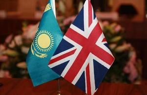 UK-Kazakh flags