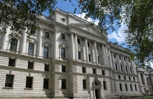 Picture of the HM Treasury building at 1 Horse Guards Road