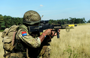 A soldier taking part in an exercise on the Stanford Training Area [Picture: Corporal Obi Igbo, Crown copyright]
